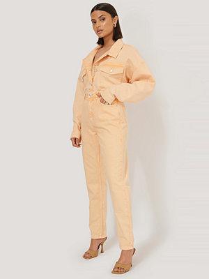 NA-KD Trend Mom-Jeans Med Hög Midja orange