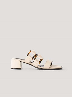 NA-KD Shoes Sandaler Med Vadderade Remmar Med Spänne offvit