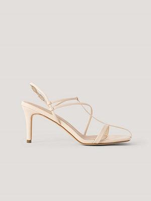 NA-KD Shoes Sandaler Med Remmar beige