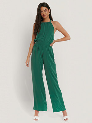 Jumpsuits & playsuits - NA-KD Halterneck-Jumpsuit turkos