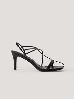 NA-KD Shoes Sandaler Med Remmar svart