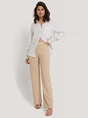 Sisters Point omönstrade byxor Pro Pants beige