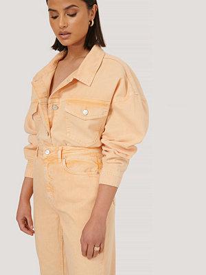 NA-KD Trend Denimskjorta Med Rå Kant orange