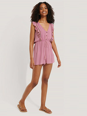 Jumpsuits & playsuits - Trendyol Playsuit Med Knappar rosa