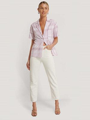 Jeans - Rut & Circle Jeans Med Hög Midja vit