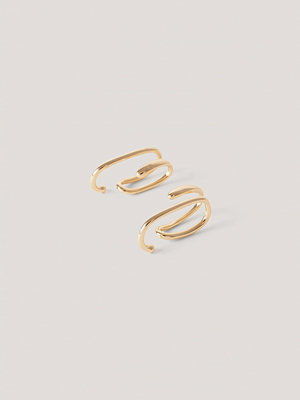 NA-KD Accessories smycke Böjda In-Ear-Cuffs guld