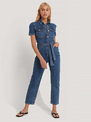 Trendyol Jumpsuit I Denim Med Midjebälte blå