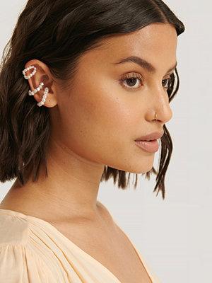 NA-KD Accessories smycke 3-Pack Pärl-Earcuffs vit