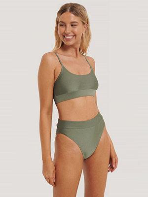 NA-KD Swimwear Maxitrosa Med Hög Midja grön