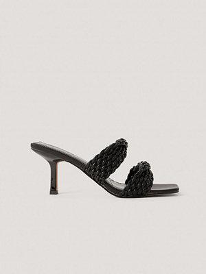 NA-KD Shoes Sandaler Med Dubbla Remmar svart