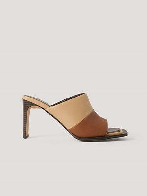 NA-KD Shoes Flerfärgade Mules brun