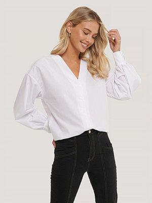 Trendyol Skjorta Med Kragdetalj vit