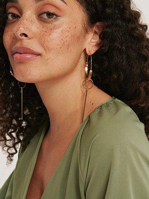 NA-KD Accessories smycke Örhängen Med Stort Hänge guld