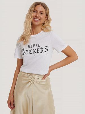 NA-KD Trend T-Shirt Med Tryck vit