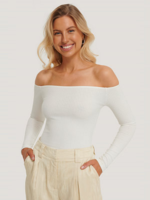 Toppar - OW Intimates Bodysuit Med Lång Ärm vit