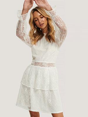 Festklänningar - NA-KD Boho Miniklänning I Spets vit
