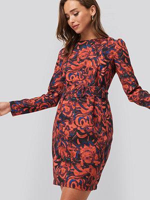 Trendyol Patterned Dress with Belt multicolor