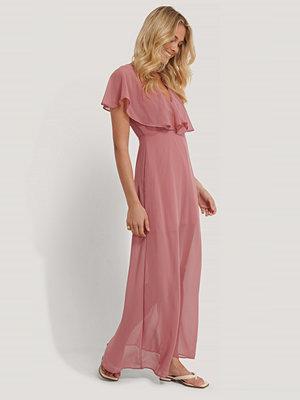 Trendyol Maxiklänning Med Volangdetalj rosa