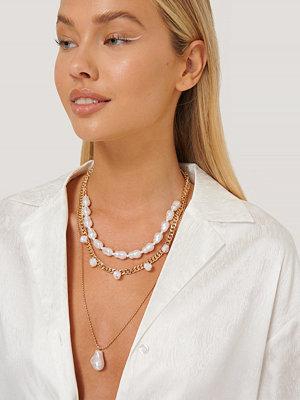 Misslisibell x NA-KD smycke 3-I-1 Pärlhalsband guld