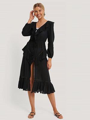 Trendyol Strandklänning I Broderad Voile svart