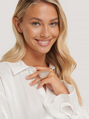 NA-KD Accessories smycke Oversize Ring Med Sten guld