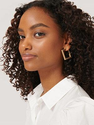 NA-KD Accessories smycke Tvåpack Fyrkantiga Örhängen guld