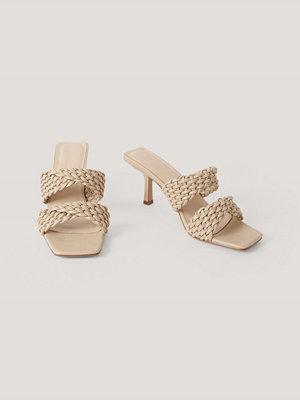 NA-KD Shoes Sandaler Med Dubbla Remmar beige