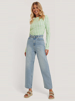 Emilie Malou x NA-KD Jeans blå
