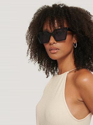 Solglasögon - Corlin Eyewear Solglasögon Med Fyrkantiga Bågar svart