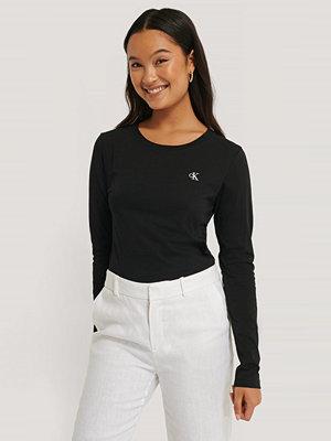 Calvin Klein Broderad T-Shirt svart