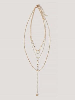 NA-KD Accessories smycke Halsband Med Tunt Ringdetaljhänge guld
