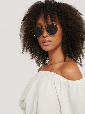 Corlin Eyewear Solglasögon Med Rund Metallbåge brun
