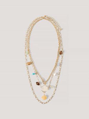 NA-KD Accessories smycke Halsband I Lager Med Färgad Sten guld