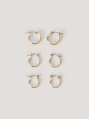 NA-KD Accessories smycke 3-Pack Tjocka Basic Hoops guld