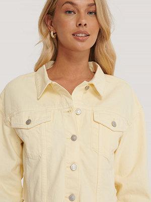 Jeansjackor - NA-KD Reborn Färgad Denimjacka I Ekologisk Bomull gul