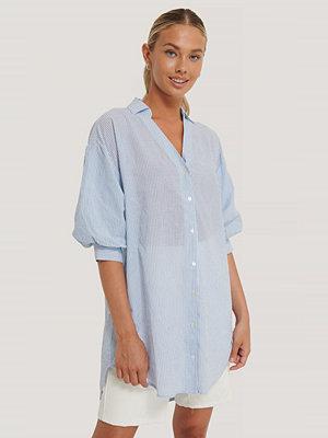 Sisters Point Oversize Skjorta blå