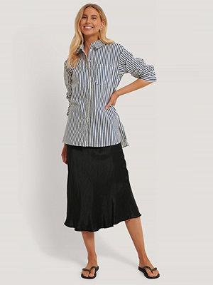 NA-KD Classic Oversize Bomullskjorta Med Ficka blå