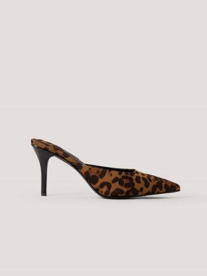 NA-KD Shoes Leopardmönstrade Mules Med Fyrkantig Häl multicolor