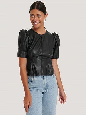 NA-KD Trend Mjuk Pu-Blus Med Puffärm svart
