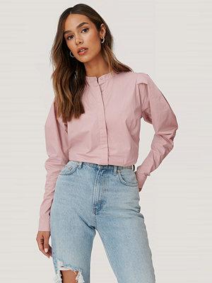 NA-KD Blus Med Ärmdetaljer rosa