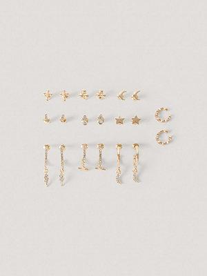NA-KD Accessories smycke 10-Pack Set Med Studs Och Cuffs guld