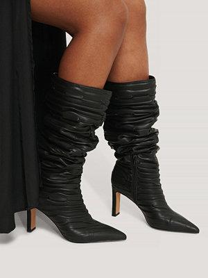 NA-KD Shoes Boots Med Vida Skaft Med Struktur svart