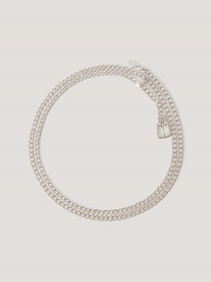 NA-KD Accessories Minikedjebälte silver