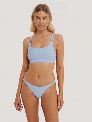 NA-KD Swimwear Two Strap Bikini Panty blå