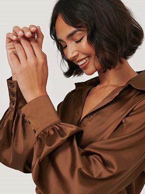 NA-KD Trend Skjorta Med Knappar brun