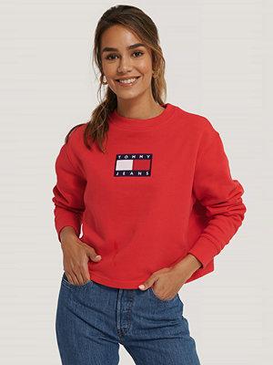 Tommy Jeans Tommy Flag Crew röd