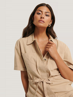 Jumpsuits & playsuits - Trendyol Playsuit beige