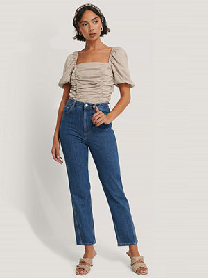 NA-KD Reborn Ekologiska Jeans Med Vriden Sömdetalj blå