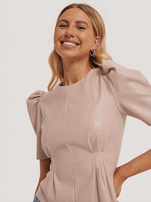 NA-KD Trend Mjuk Pu-Blus Med Puffärm rosa