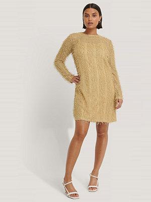NA-KD Party Net Detail Dress beige
